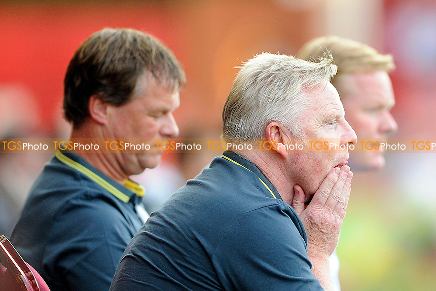 Southampton Assistant Sammy Lee looks anxious - AFC Bournemouth vs Southampton - Pre-Season Friendly Football Match at the Goldsands Stadium, Kings Park, Boscombe, Bournemouth, Dorset - 25/07/14 - MANDATORY CREDIT: Denis Murphy/TGSPHOTO - Self billing applies where appropriate - contact@tgsphoto.co.uk - NO UNPAID USE