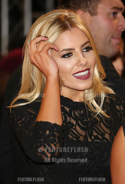 "Mollie King arriving for the ""The Twilight Saga: Breaking Dawn Part 2"" premiere at the Odeon Leicester Square, London. 14/11/2012 Picture by: Henry Harris / Featureflash"