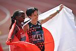 (L-R) Rose Chelimo (BRN),   Keiko Nogami (JPN), <br /> AUGUST 26, 2018 - Athletics - Marathon : Women's Marathon at Gelora Bung Karno Main Stadium during the 2018 Jakarta Palembang Asian Games in Jakarta, Indonesia. <br /> (Photo by MATSUO.K/AFLO SPORT)