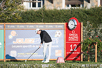 Joakim Lagergreen (SWE) in action on the 12th hole during second round at the Omega European Masters, Golf Club Crans-sur-Sierre, Crans-Montana, Valais, Switzerland. 30/08/19.<br /> Picture Stefano DiMaria / Golffile.ie<br /> <br /> All photo usage must carry mandatory copyright credit (© Golffile | Stefano DiMaria)