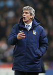 Manuel Pellegrini manager of Manchester City - Barclays Premier League - Stoke City vs Manchester City - Britannia Stadium - Stoke on Trent - England - 11th February 2015 - Picture Simon Bellis/Sportimage