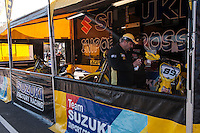 Suzuki box  at Spanish Motocross Championship at Albaida circuit (Spain), 22-23 February 2014