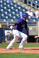 Tulsa Drillers shortstop Cristhian Adames (2) at bat during the first game of a doubleheader against the Frisco Rough Riders on May 29, 2014 at ONEOK Field in Tulsa, Oklahoma.  Frisco defeated Tulsa 13-4.  (Mike Janes/Four Seam Images)