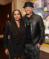 PASADENA, CA - JANUARY 17: (L-R) Genius: Aretha Director/Executive Producer Anthony Hemingway and Executive Producer/Showrunner Suzan-Lori Parks attends the National Geographic 2020 TCA Winter Press Tour Party at the Langham Huntington on January 17, 2020 in Pasadena, California. (Photo by Frank Micelotta/National Geographic/PictureGroup)