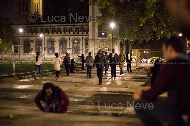 Indecipherable Ritual... in Parliament Square.<br />