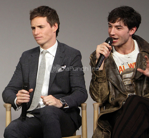 NEW YORK, NY November 09: Katherine Watersto, Eddie Redmayne, Ezra Miller  at Apple presents Meet the Cast of Fantastic Beasts and Where to Find Them at Apple Soho  in New York .November 09, 2016. Credit:RW/MediaPunch