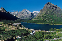 Swiftcurrent Lake, Many Glacier Hotel, Glacier National Park, MT.