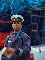 trafic Police at Thamel Area Kathmandu Nepal