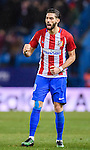 Yannick Ferreira Carrasco of Atletico de Madrid celebrates during their La Liga match between Atletico de Madrid and RC Celta de Vigo at the Vicente Calderón Stadium on 12 February 2017 in Madrid, Spain. Photo by Diego Gonzalez Souto / Power Sport Images
