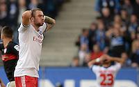 FUSSBALL   1. BUNDESLIGA   SAISON 2013/2014   9. SPIELTAG Hamburger SV - VfB Stuttgart                               20.10.2013 Pierre-Michel Lasogga (Hamburger SV) emotional