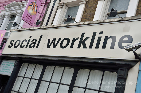Social Workline sign outside an office
