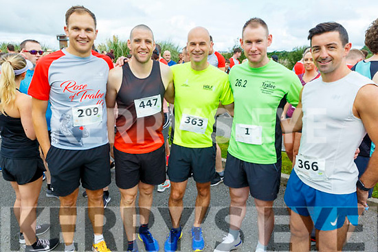 Ready for road from the Tralee Garda station at the Tralee Harriers Rose of Tralee 10k on Sunday in the Tralee Wetlands.<br /> L to r: Gda John Kilmartin, Gda Kevin Walsh, Sgt Tim O'Keeffe, Gda Dan Buckley and Gda Aidan O'Mahoney.