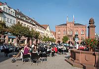 Germany, Baden-Wuerttemberg, Region Heilbronn-Franconia, Tauberbischofsheim: market Square and neo-Gothic Townhall | Deutschland, Baden-Wuerttemberg, Region Heilbronn-Franken, Tauberbischofsheim: Marktplatz und das neugotische Rathaus
