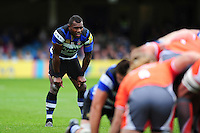 Semesa Rokoduguni of Bath Rugby watches a scrum. Aviva Premiership match, between Bath Rugby and Newcastle Falcons on September 10, 2016 at the Recreation Ground in Bath, England. Photo by: Patrick Khachfe / Onside Images