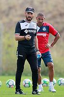 Getafe CF's coach Jose Bordalas and Cata Diaz during training session. August 1,2017.(ALTERPHOTOS/Acero) /NortePhoto.com