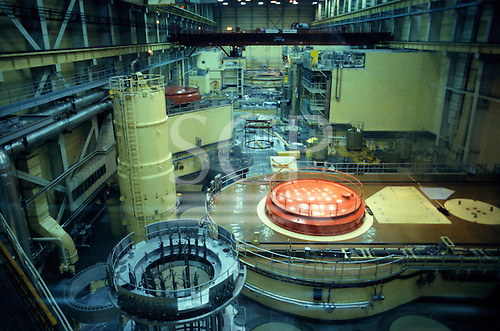 Hungary. Paks nuclear power station reactor room.