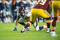 Landover, MD - August 24, 2018: Denver Broncos linebacker Bradley Chubb (55) lines up to rush the passer during preseason game between the Denver Broncos and Washington Redskins at FedEx Field in Landover, MD. The Broncos defeat the Redskins 29-17. (Photo by Phillip Peters/Media Images International)