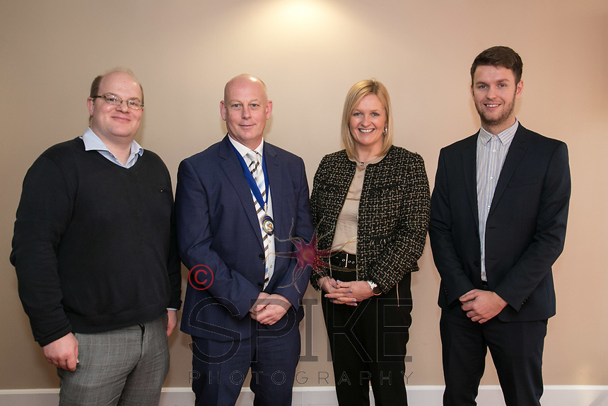 Pictured from left are Ewan Carr of sponsors Buckles, NCBC Pesident Ian Roberts, Karen Smart, Managing Director of East Midlands Airport and James Munn of sponsors Buckles.