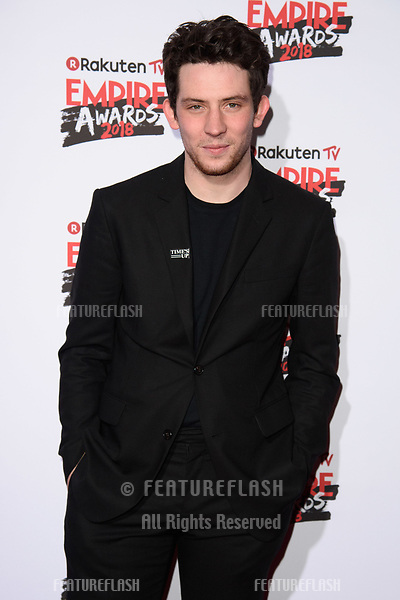 Josh O'Connor arriving for the Empire Awards 2018 at the Roundhouse, Camden, London, UK. <br /> 18 March  2018<br /> Picture: Steve Vas/Featureflash/SilverHub 0208 004 5359 sales@silverhubmedia.com