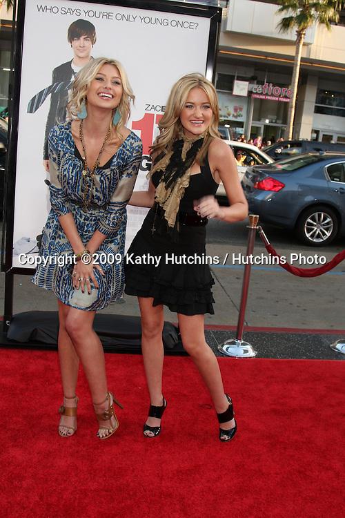 Aly & AJ , aka Alyson Michalka & Amanda Michalka  arriving at the 17 Again Premiere at Grauman's Chinese Theater in Los Angeles, CA on April 14, 2009.©2009 Kathy Hutchins / Hutchins Photo....                .