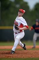 Illinois State Redbirds Jack Landwehr (18) during a game against the Bucknell Bison on March 8, 2015 at North Charlotte Regional Park in Port Charlotte, Florida.  Bucknell defeated Illinois State 13-8.  (Mike Janes Photography)