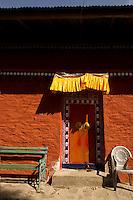Colorful facade of a monastery, Sikkim, India