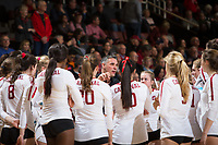 STANFORD, CA - December 1, 2018: Kevin Hambly at Maples Pavilion. The Stanford Cardinal defeated Loyola Marymount 25-20, 25-15, 25-17 in the second round of the NCAA tournament.