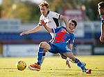 Inverness Caledonian Thistle v St Johnstone...24.10.15  SPFL  Tulloch Stadium, Inverness<br /> Ryan Christie and Liam Craig battle<br /> Picture by Graeme Hart.<br /> Copyright Perthshire Picture Agency<br /> Tel: 01738 623350  Mobile: 07990 594431