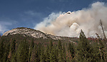 Fire near Wawona Dome at the South Fork Fire near Wawona  on August 14, 2017 in Yosemite National Park.  Photo By Al Golub/Golub Photography