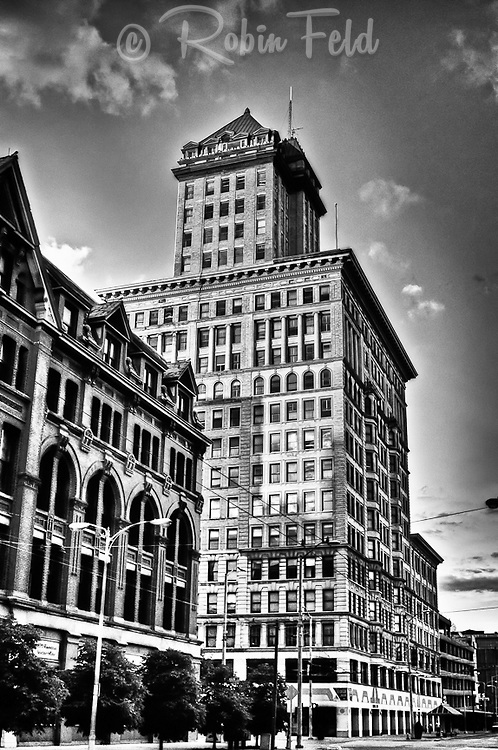 City Center Building, Dayton Ohio in black & white for the Dayton Image Project