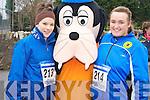 Enjoying the Glounaguillagh National school fun run in Caragh Lake on Sunday with Goofy were Majella Browne and Sarah O'Connor.