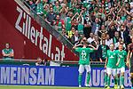 01.09.2019, wohninvest Weserstadion, Bremen, GER, 1.FBL, Werder Bremen vs FC Augsburg, <br /> <br /> DFL REGULATIONS PROHIBIT ANY USE OF PHOTOGRAPHS AS IMAGE SEQUENCES AND/OR QUASI-VIDEO.<br /> <br />  im Bild<br /> <br /> 2:1 Joshua Sargent (Werder Bremen #19<br /> jubel <br /> Davy Klaassen (Werder Bremen #30)<br /> Maximilian Eggestein (Werder Bremen #35)<br /> Nuri Sahin (Werder Bremen #17)<br /> Marco Friedl (Werder Bremen #32)<br /> Foto © nordphoto / Kokenge