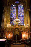 Stained Glass Windows and Chapel; Chartres Cathedral; France