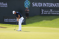 Lucas Herbert (AUS) on the 18th green during the 3rd round of  the Saudi International powered by Softbank Investment Advisers, Royal Greens G&CC, King Abdullah Economic City,  Saudi Arabia. 01/02/2020<br /> Picture: Golffile | Fran Caffrey<br /> <br /> <br /> All photo usage must carry mandatory copyright credit (© Golffile | Fran Caffrey)