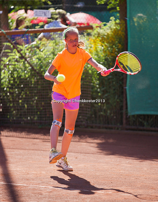 05-08-13, Netherlands, Dordrecht,  TV Desh, Tennis, NJK, National Junior Tennis Championships, Margriet Timmermans<br /> <br /> <br /> Photo: Henk Koster