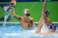 7 RENZUTO IODICE Vincenzo Italy  <br /> Budapest 26/01/2020 Duna Arena <br /> ITALY (white caps) Vs. SERBIA (blue caps) Men <br /> Final 5th - 6th place <br /> XXXIV LEN European Water Polo Championships 2020<br /> Photo  © Andrea Staccioli / Deepbluemedia / Insidefoto