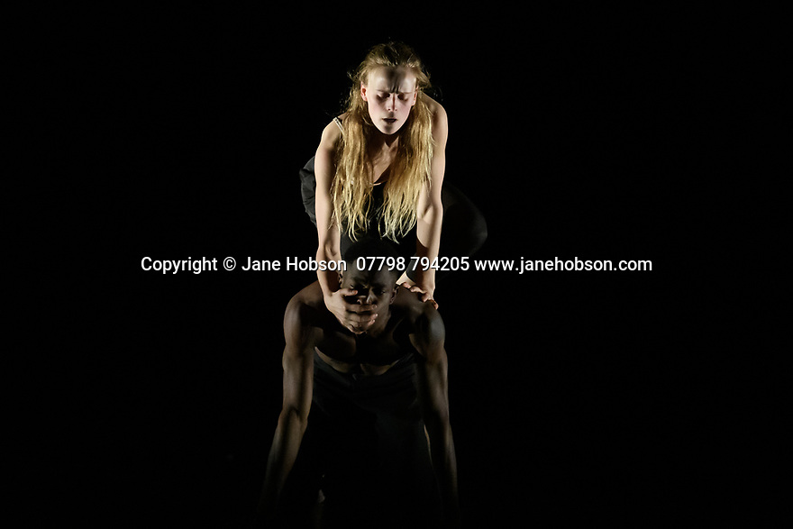"Rambert2 presents ""Sin"", at Sadler's Wells theatre, choreographed by Sidi Larbi Cherkaoui and Damien Jalet, with lighting design by Adam Carree and costume design by Alexandra Gilbert. Picture shows: Minouche Van de Ven and Prince Lyons."