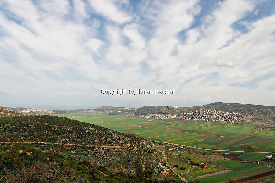 Israel, the Lower Galilee. A view of Beth Natofa valley.