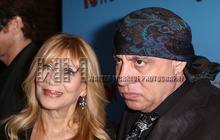 Maureen Van Zandt and Steven Van Zandt attend the Broadway Opening Night Performance of 'On The Town'  at the Lyric Theatre on October 16, 2014 in New York City.