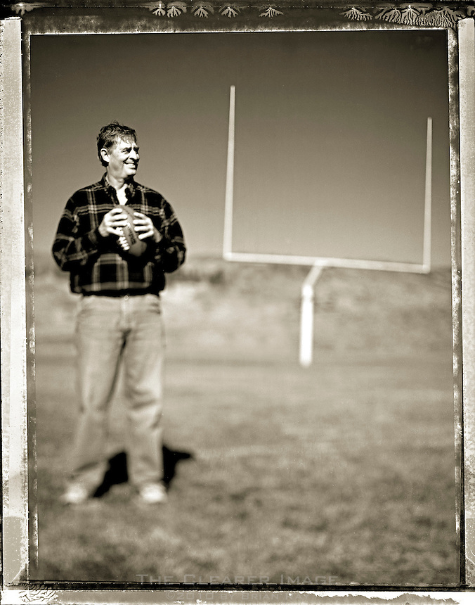 Bob Johnson, pictured here on the current Soroco High School football field in Oak Creek, CO, led the Soroco football team to the state playoff semifinals during two consecutive seasons as an assistant coach in 1967 and 1968.