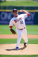 Buffalo Bisons pitcher Matt Boyd (32) delivers a pitch during a game against the Columbus Clippers on July 19, 2015 at Coca-Cola Field in Buffalo, New York.  Buffalo defeated Columbus 4-3 in twelve innings.  (Mike Janes/Four Seam Images)