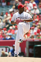 05/06/12 Anaheim, CA: Los Angeles Angels starting pitcher Jerome Williams #57 during an MLB game against the Toronto Blue Jays played at Angel stadium. The Angels defeated the Blue Jays 4-3
