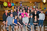 Noreen Angland, Ballydesmond and Donal Teehan, Glenbeigh (seated 3rd and 4th left) had a fab night celebrating their engagement in Sheahan's bar, Firies last Saturday night along with many friends and family.