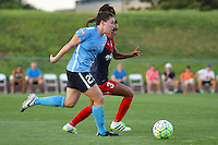 Piscataway, NJ - Saturday July 23, 2016: Catherine Zimmerman, Caprice Dydasco during a regular season National Women's Soccer League (NWSL) match between Sky Blue FC and the Washington Spirit at Yurcak Field.