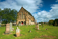 Govan Old Parish Church, also known as Govan Old Kirk, sitting on the banks of the River Clyde, Govan Glasgow