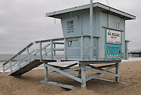 Closed/Abandoned Lifeguard shack on Santa Monica Beach