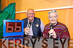 Clickety click 66 Bingo callers Ned Burke, Castleisland and Danny Loughlin, Cordal at the Monster Charity Bingo in aid of Kerry Cancer Support Group at the Castleisland Community Centre on Tuesday