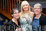 Women in Media: Attending the Women in Media  at Kilcooly's Country House hotel on Saturday evening last were Carrie Stafford, Miriam O'Callaghan & Mary Rose Stafford.