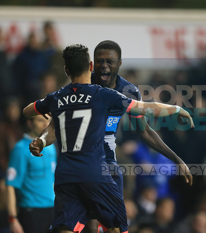 Newcastle's Georginio Wijnaldum celebrates with goalscorer Ayoze Perez<br /> <br /> Barclays Premier League- Tottenham Hotspur vs Newcastle United - White Hart Lane - England - 13th December 2015 - Picture David Klein/Sportimage