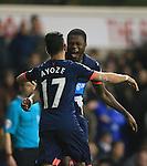 Newcastle's Georginio Wijnaldum celebrates with goalscorer Ayoze Perez<br /> <br /> Barclays Premier League- Tottenham Hotspur vs Newcastle United - White Hart Lane - England - 13th December 2015 - Picture David Klein/Sportimage